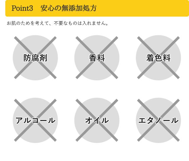 Point3 安心の無添加処方